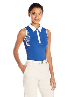 Cutter & Buck Women's Moisture Wicking UPF 50+ Sleeveless Careen Polo Shirt  M