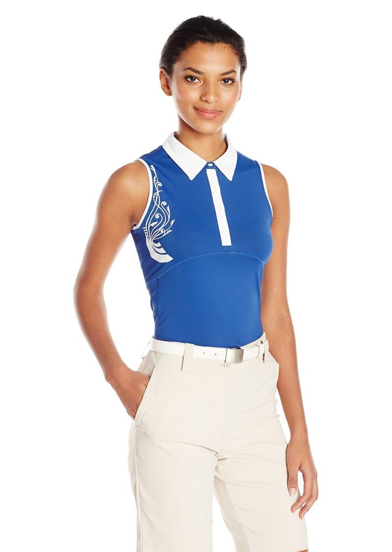 Cutter & Buck Women's Moisture Wicking UPF 50+ Sleeveless Careen Polo Shirt  M