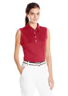 Cutter & Buck Women's Moisture Wicking Upf 50+ Sleeveless Clare Polo Shirt