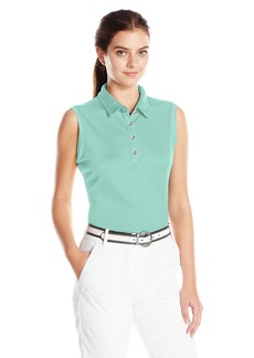 Cutter & Buck Women's Moisture Wicking UPF 50+ Sleeveless Clare Polo Shirt  L