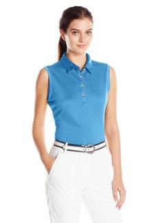 Cutter & Buck Women's Moisture Wicking UPF 50+ Sleeveless Clare Polo Shirt  L