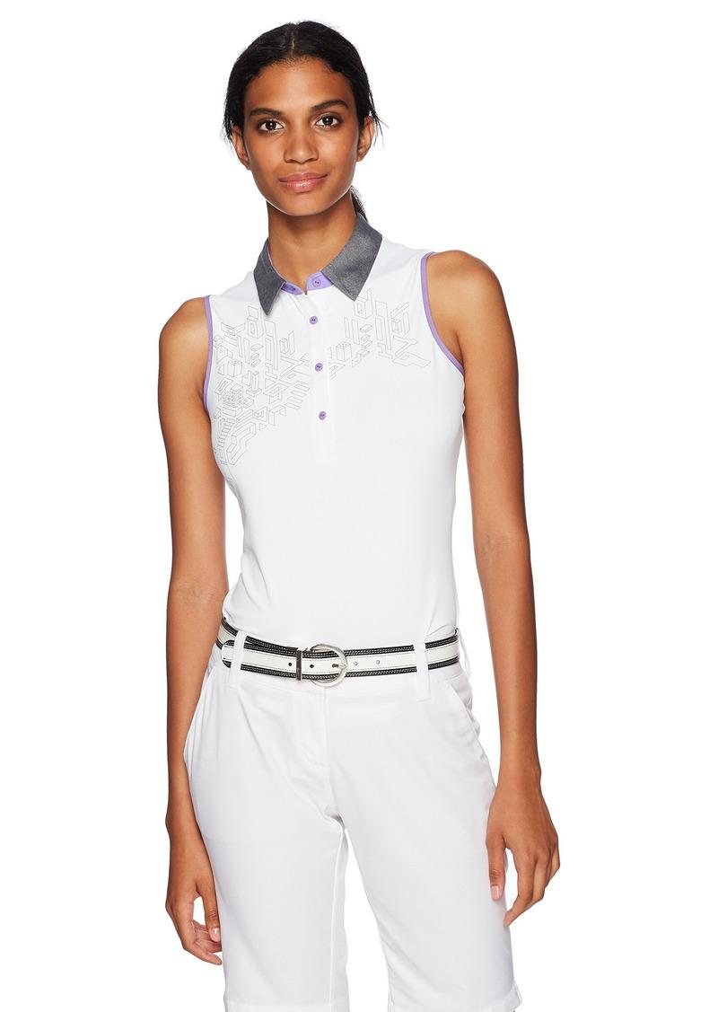 Cutter & Buck Women's Moisture Wicking UPF 50+ Sleeveless Neves Polo Shirt  S