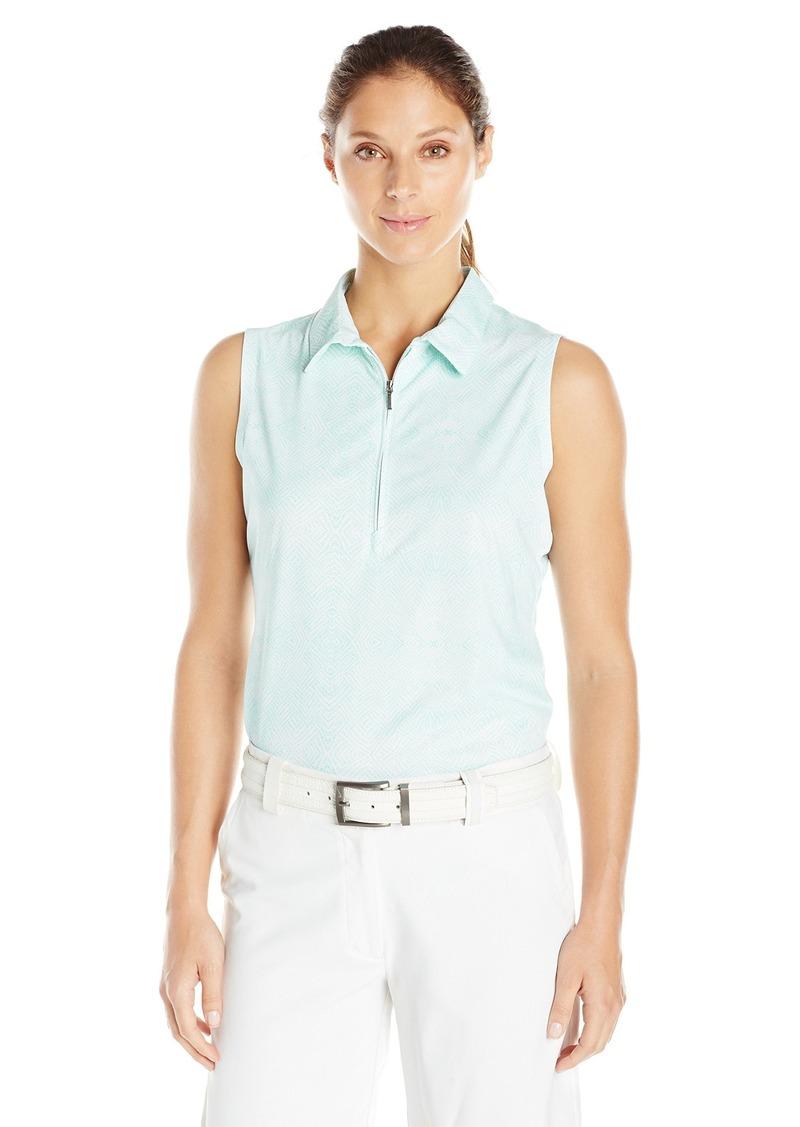 Cutter & Buck Women's Moisture Wicking UPF 50+ Sleeveless Tess Printed Polo Shirt  L
