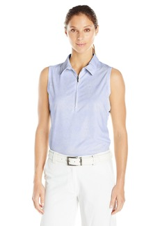 Cutter & Buck Women's Moisture Wicking UPF 50+ Sleeveless Tess Printed Polo Shirt  M