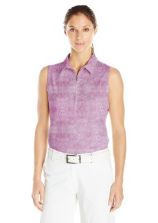 Cutter & Buck Women's Moisture Wicking UPF 50+ Sleeveless Tess Printed Polo Shirt  S