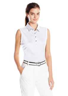Cutter & Buck Women's Moisture Wicking UPF 50+ Sleeveless Clare Polo Shirt  M