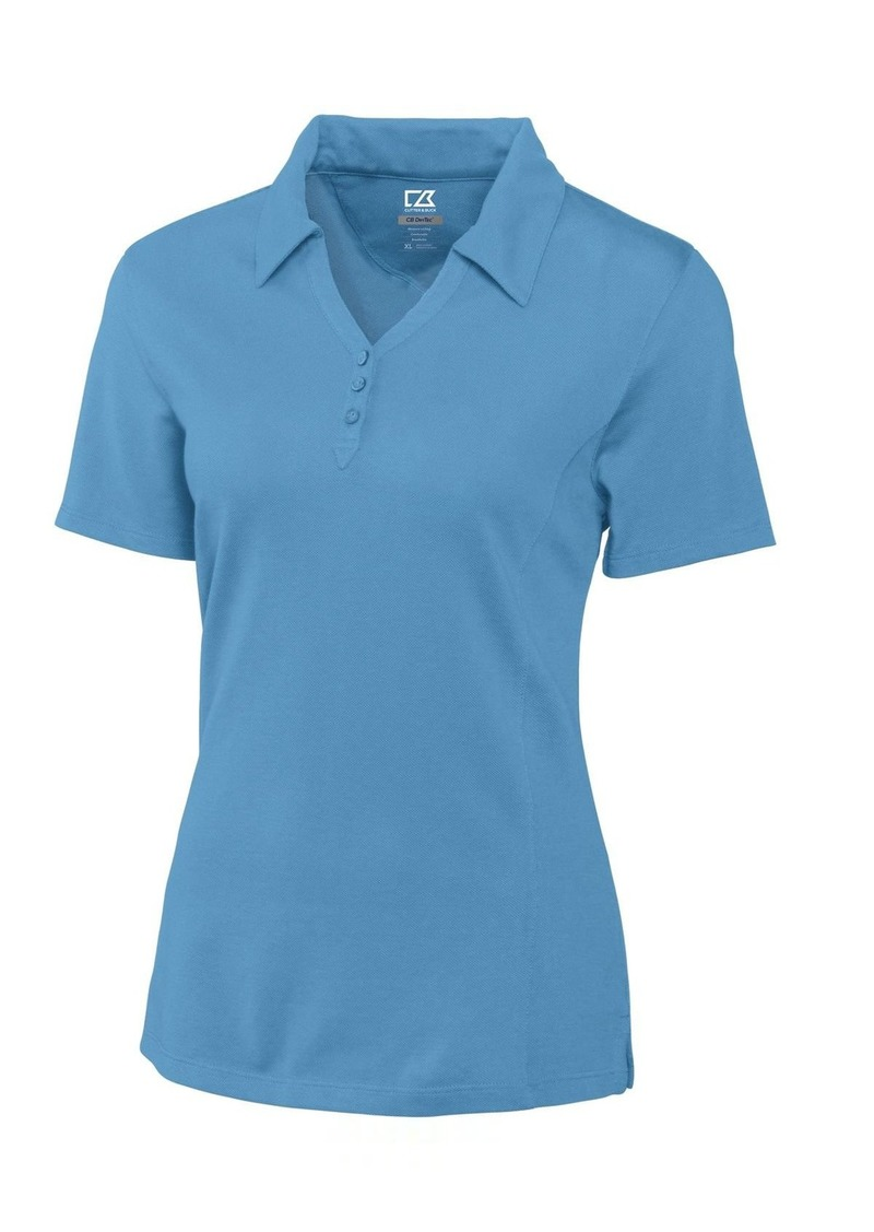 Cutter & Buck Women's Plus Size CB Drytec Championship Polo sea Blue