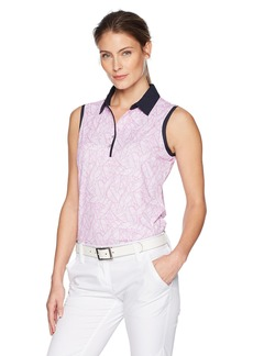 Cutter & Buck Women's Sleeveless Palm Printed Polo