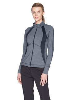 Cutter & Buck Women's Smooth Melange Stripe Shoreline Colorblock Full Zip Jacket