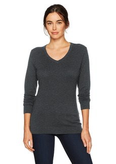 Cutter & Buck Women's Soft Cotton Blend Lakemont Long Sleeve V-Neck Sweater  S