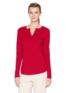 Cutter & Buck Women's Stretch Jersey Blend Avail Double V-Neck Long Sleeve Shirt