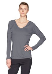 Cutter & Buck Women's Stretch Tonal Stripe Jersey Victory V-Neck Long Sleeve Shirt