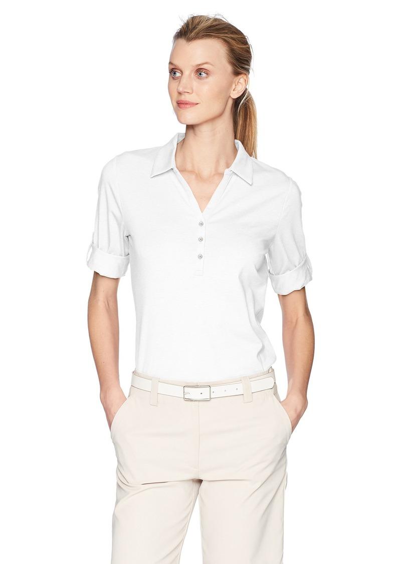 Cutter & Buck Women's Tri-Blend Stretch Jersey Elbow Sleeve Thrive Polo Shirt