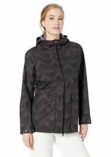 Cutter & Buck Women's Waterproof Weathertec Monsoon Long Hood Jacket with Pockets