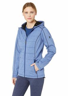 Cutter & Buck Women's Weathertec Jersey Bonded Fleece Altitude Quilted Hood Jacket  XXLarge