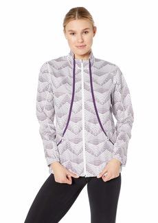 Cutter & Buck Women's Weathertec Quiet Packable Print Long Sleeve Full Zip Jacket  XXLarge