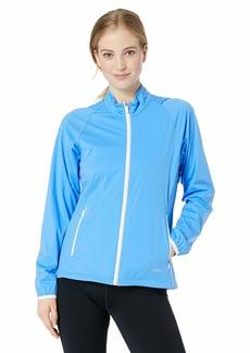 Cutter & Buck Women's Weathertec Resistant Packable Reflective Rain Delay Jacket