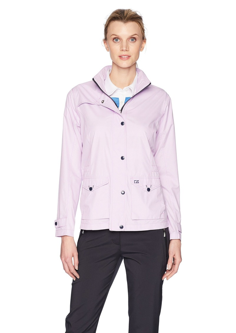 Cutter & Buck Women's Wind and Water Resistant Drytec 50 UPF Gingham Field Jacket