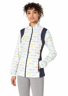 Cutter & Buck Women's Wind-Water Resistant UPF 50+ Cove Print Packable Jacket  XXLarge