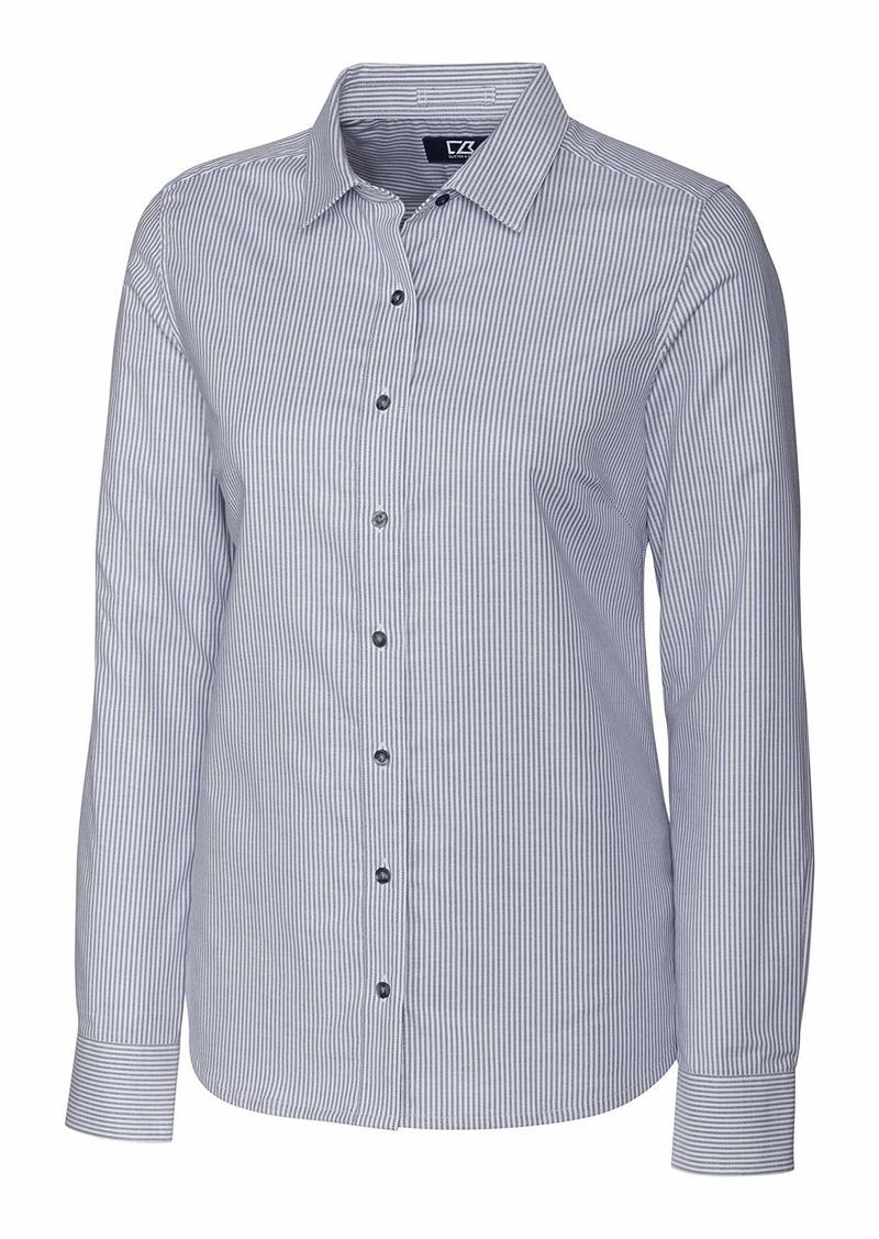 Cutter & Buck Women's Wrinkle Resistant Stretch Long Sleeve Button Down Shirt  XXLarge