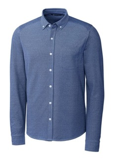 Cutter & Buck Men's Big and Tall Reach Oxford Button Front Long Sleeves Shirt