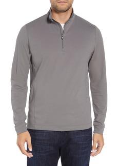Men's Big & Tall Cutter & Buck Advantage Regular Fit Drytec Mock Neck Pullover