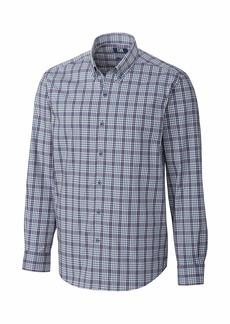 Cutter & Buck Men's Long Sleeve Soar Bold Check Button Down Shirt -  - XXXL