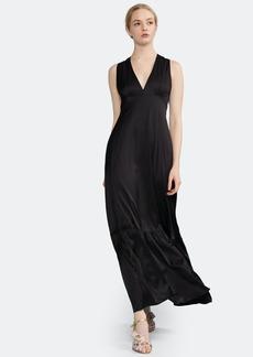 Cynthia Rowley Asher V-Neck Flounce Maxi Dress