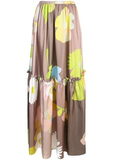Cynthia Rowley ashley pop floral long skirt