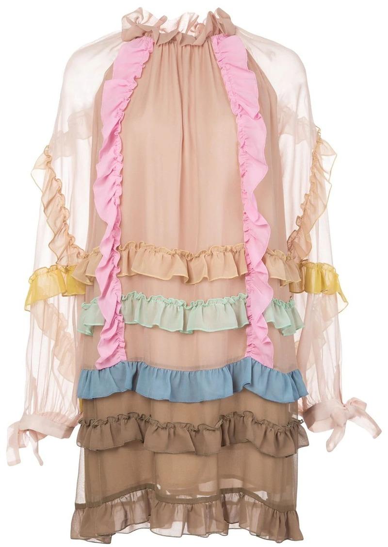 Cynthia Rowley Avery ruffle trim dress