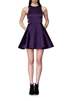 Cynthia Rowley Bonded Cutout Fit-and-Flare Dress