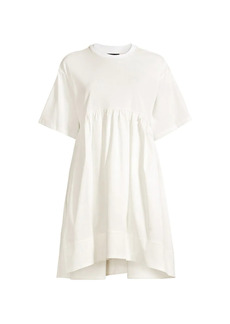 Cynthia Rowley Bree Jersey & Sateen T-Shirt Dress