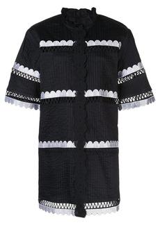 Cynthia Rowley Cabana scalloped shirt dress