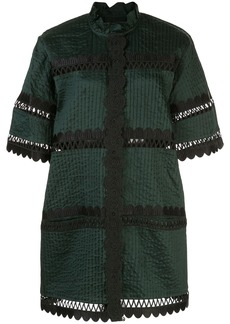 Cynthia Rowley Cabana scalloped shirt dress