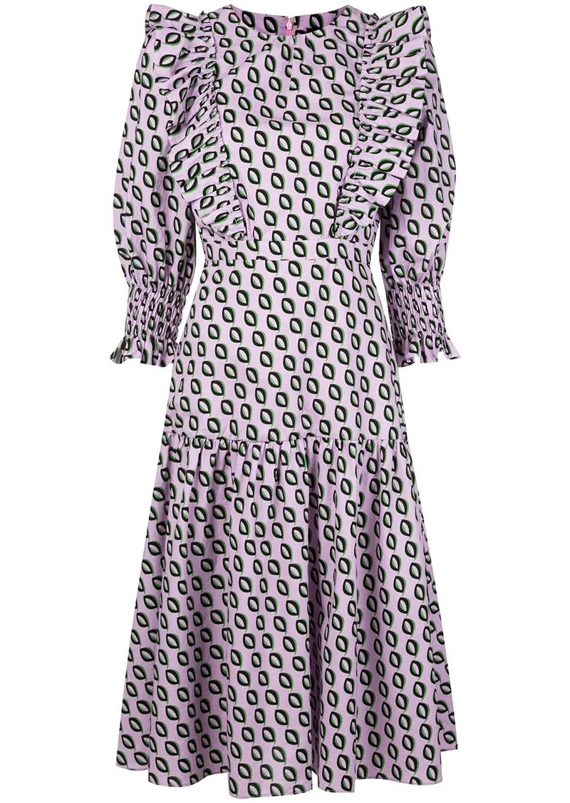 Cynthia Rowley Campbell ruffled midi dress