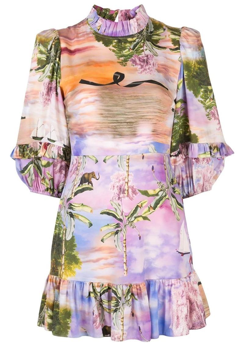Cynthia Rowley Catalina mini ruffle dress