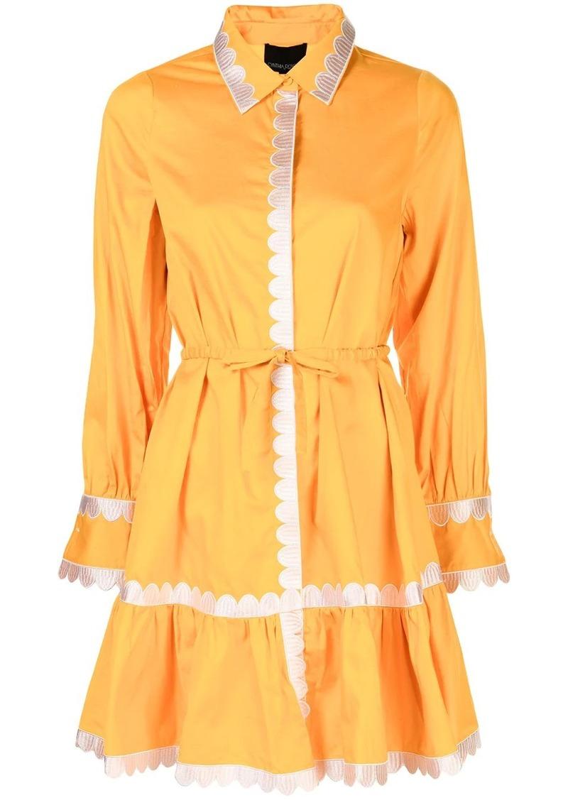 Cynthia Rowley Cecily scalloped shirt dress