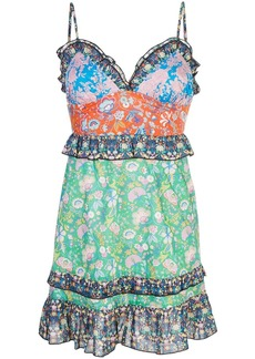 Cynthia Rowley Charlotte Patchwork Mini Dress