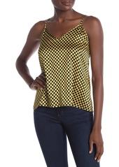 Cynthia Rowley Check Mate Printed Silk Tank Top