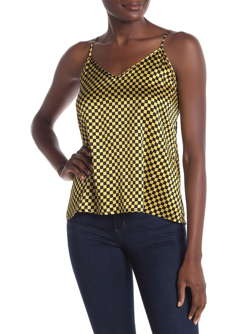 Check Mate Printed Silk Tank Top