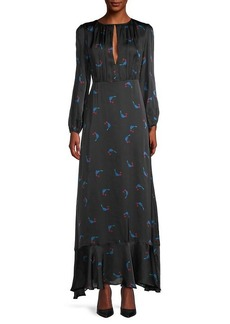 Cynthia Rowley Cherry-Print Ruffled Dress