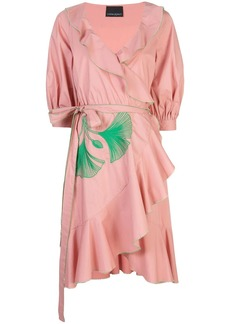 Cynthia Rowley Cleo Embroidered Wrap Dress