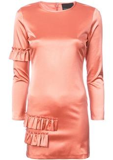 Cynthia Rowley Aeris satin ruffle mini dress - Pink & Purple