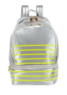 Cynthia Rowley Brody Striped Nylon Backpack