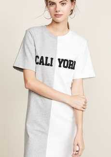 Cynthia Rowley Cali York Embroidered T-Shirt Dress