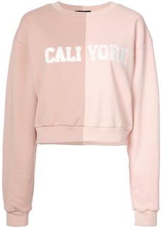 Cynthia Rowley Cali York split sweatshirt - Pink & Purple