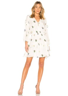 Cynthia Rowley Celia Smocked Mini Dress