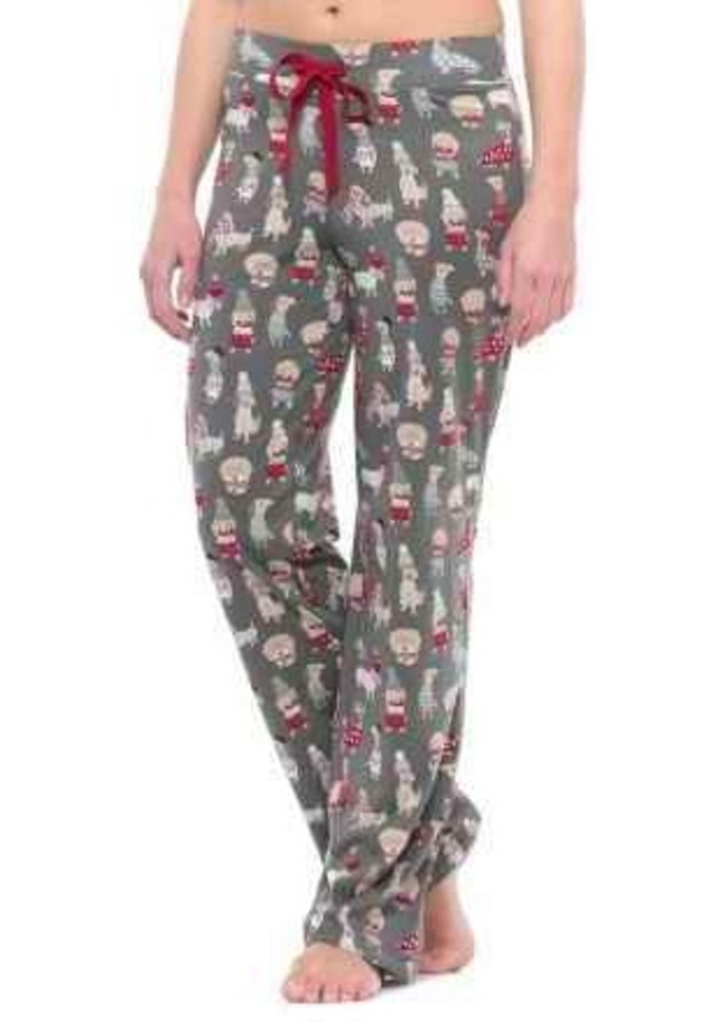 Christmas Pajama Pants.Cynthia Rowley Cynthia Rowley Christmas Dogs Pajama Pants For Women Sleepwear
