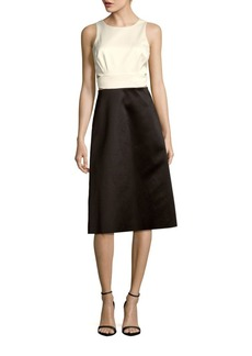 Cynthia Rowley Colorblock Cutout Dress