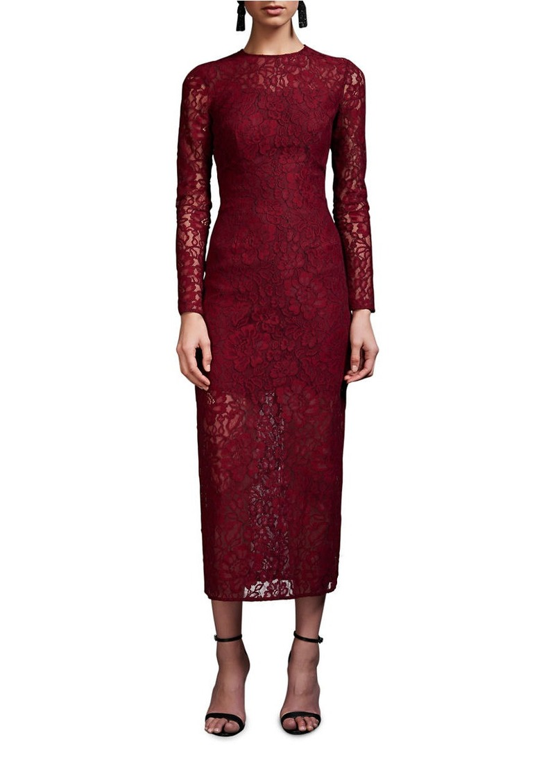 CYNTHIA ROWLEY Delicate Lace Fitted Dress